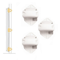 Lascal ��������� � �������� Bannister installation kit for locking strip ����: white